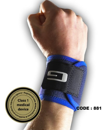Neo G MEDICAL GRADE Wrist Strap Support, strengthens and supports wrist tendons and muscles, used for racket sports, weight lifting even typing