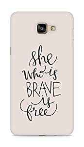 AMEZ she who is brave is free Back Cover For Samsung Galaxy A9