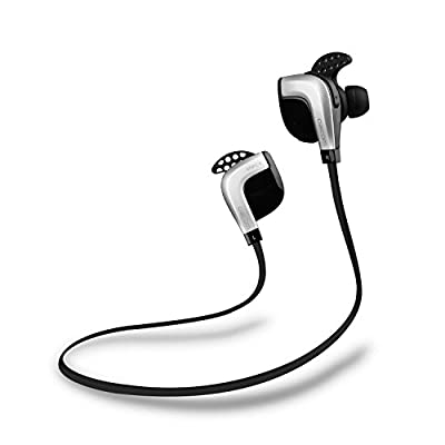 {Nfc-enabled} Bluetooth 4.1 Mini Lightweight Wireless Stereo Sports Headphone Earbuds, Earphones with Noise Cancellation, Sweatproof Stable Wearing Headset Fit for Running, Exercise, Gym, Mic Hands-free Calling Earphone for Iphone 6, 6 Plus, 5 5c 5s 4s Ip