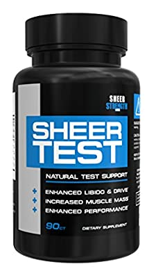 Sheer TEST, Best Testosterone Booster Supplement for Men with Fenugreek, Science-Based Formula Delivers Visible Results You Can See and Feel, Full 30-Day Cycle
