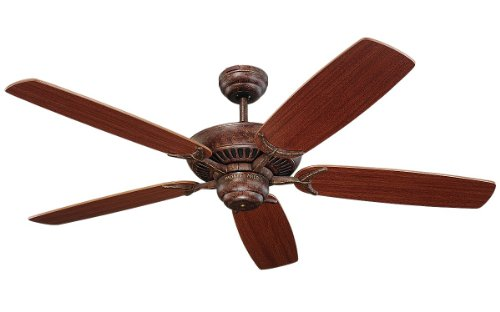 Monte Carlo 5Co52Tb Colony 52-Inch 5-Blade Ceiling Fan With Mahogany Blades, Tuscan Bronze