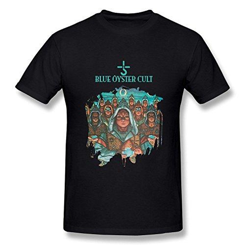 ZEKO Men's Tshirt Blue Oyster Cult Fire Of Unknown Origin Size L Black (The Blue Oyster Cult Shirt compare prices)