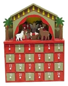 Premier decorations wooden nativity advent How to build a wooden advent calendar