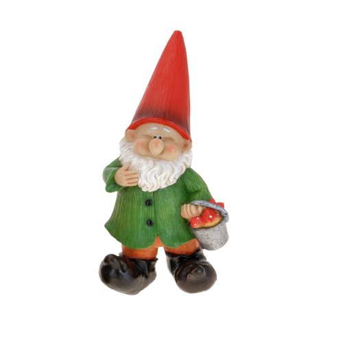 With Bucket Medium Resin Garden Gnome Outdoor Ornament Gnomes Toadstool Statue