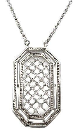 STERLING SILVER CZ NECKLACES - Sterling Silver Contemporay CZ Necklaces