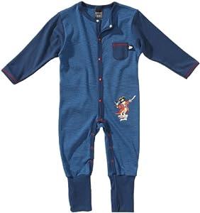 Schiesser - Pijama de manga larga para bebé, talla 74 (6 Monate) - talla alemana, color azul (atlantikblau 899)