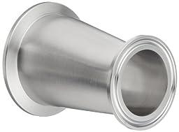 Dixon B3214MP-G200150 Stainless Steel 304 Sanitary Fitting, Clamp Eccentric Red Fiberglassucer, 2\