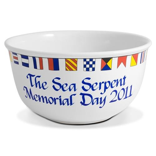 Personalized Signal Flag Popcorn Bowl