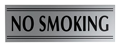 JP Signs No Smoking Sign Premium Engraved Safety Signage for Door or Wall, Large or Small Office, Restaurant, Shop, Highly Visible, Elegant Design on High Quality Plastic Material (Occupied Door Knob compare prices)