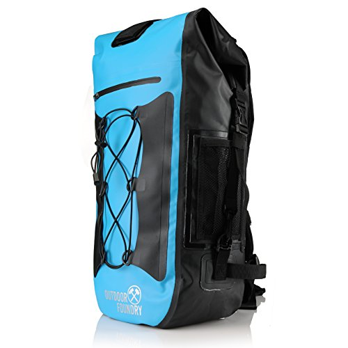 Outdoor Foundry 100% Waterproof 35L Dry Bag Backpack - (Without Optional Laptop Sleeve) - Padded Back and Straps - for Water Sports, Adventure Travel, Motorcycle Trips, or a Day at the Beach (Row Boat Motor compare prices)