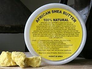 African Shea Butter Cream (100% Pure & Raw, Gold) 8 Oz.