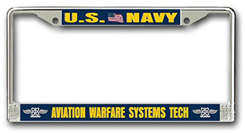 Aviation Warfare Systems Tech Car or Truck License AW Plate Frame (Vet Tech License Plate Frame compare prices)