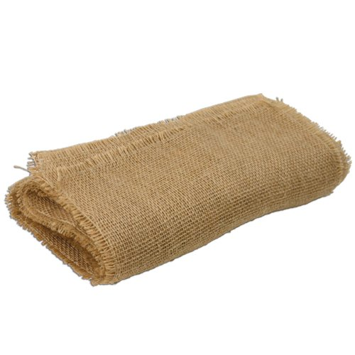 LinenTablecloth Square Jute Tablecloth with Fringe Edge, 72-Inch (Burlap Table Cover compare prices)