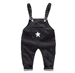 cnWay 1pc Babies jeans dungarees jumpsuit cute animal pattern design jumpsuit kids overalls blue jeans boys girls denim overalls Cute Dog Elephant Pattern