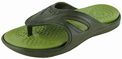 Dawgs Flip Flops Womens Shoes Olive/green Sz 6