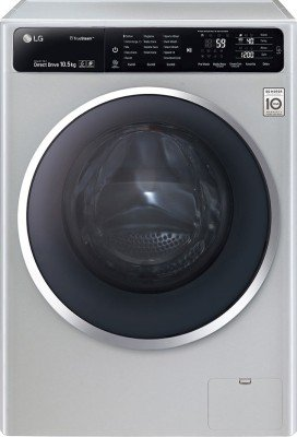 LG FH4U1JBSK4 Fully-automatic Front-loading Washing Machine (10.5 Kg, Luxury Silver)