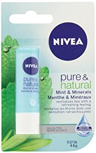 NIVEA Lip Care Pure & Natural Mint & Minerals 4.8g