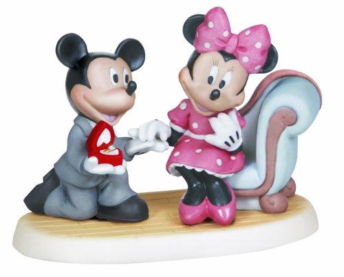 """プレシャスモーメント ディズニー ミッキー&ミニー プロポーズ """"Will You Marry Me?"""" 132702"""