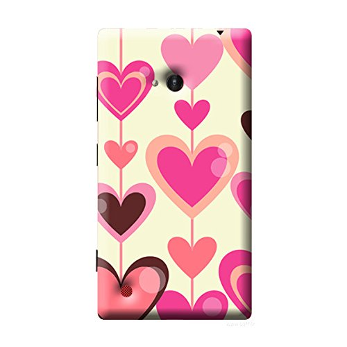 Garmor Heart Shape Design Plastic Back Cover For Nokia Lumia 720 (Heart Shape - 1)