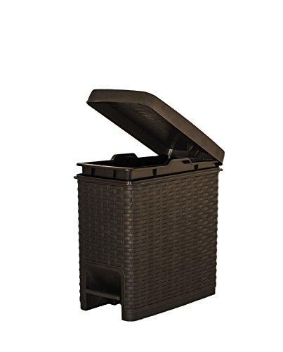 6.5 Qt. Rattan Style Slim Trash Can (Decorative Trash Can compare prices)
