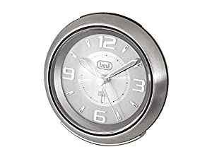 Trevi 3090 Brushed Stainless Steel Alarm Clock Silent