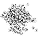 Alcoa Prime 100X Antique Silver Pumpkin Round Spacer Beads Charms DIY Jewelry Making 4mm