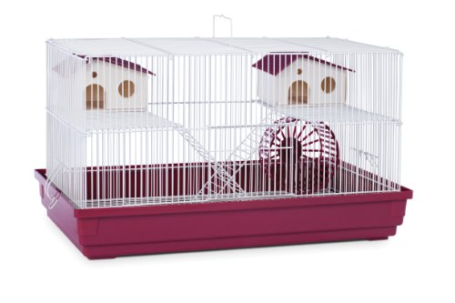 Deluxe Hamster and Gerbil Cage - Bordeaux Red