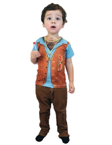 Boy's Hairy Chest Hippie Child Costume