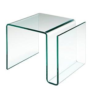 Table d 39 appoint porte revue en verre cuisine for Table d appoint moderne