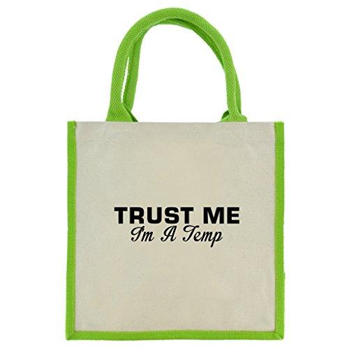 trust-me-i-m-a-temp-in-schwarz-print-jute-midi-einkaufstasche-mit-grun-griffe-und-besatz