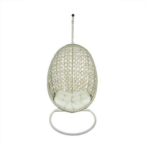 Tremendous 45 Beige Outdoor Patio Wicker Hanging Egg Chair Off White Creativecarmelina Interior Chair Design Creativecarmelinacom