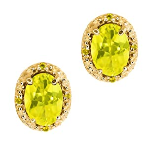 Click to buy Mystic Topaz and Canary Diamond Yellow Gold Earrings from Amazon!