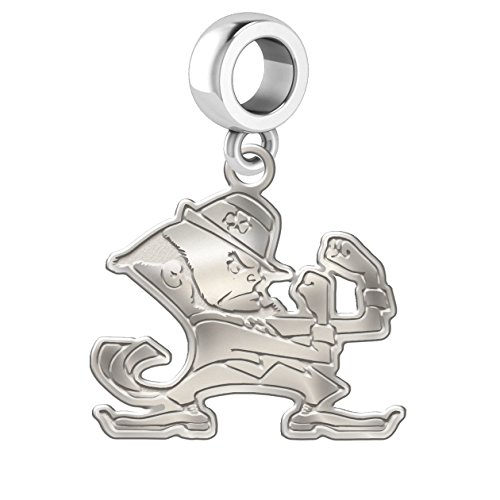 Notre Dame Fighting Irish Natural Finish Logo Cut Out Dangle Charm Fits All European Style Bracelets