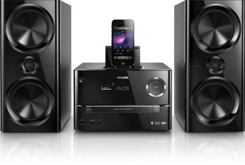 Philips-DTM317012-Mini-Stereoanlage-mit-Bluetooth-Lightning-Connector-150-Watt-RMS-USB-inkl-All-in-One-Fernbedienung-schwarz