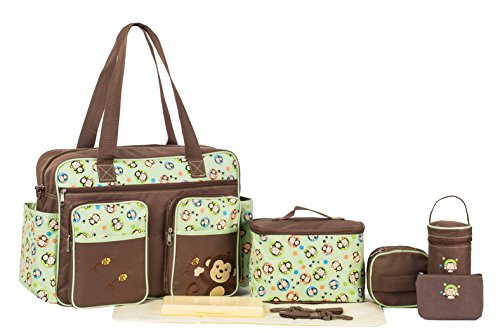 SoHo Collection, Monkey & Bee 8 pieces Diaper Bag set *Limited time offer !*