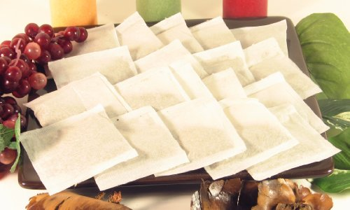 50 pcs Empty Teabags Heat Seal Filter Paper Herb Loose 2 x 3 Tea Bags