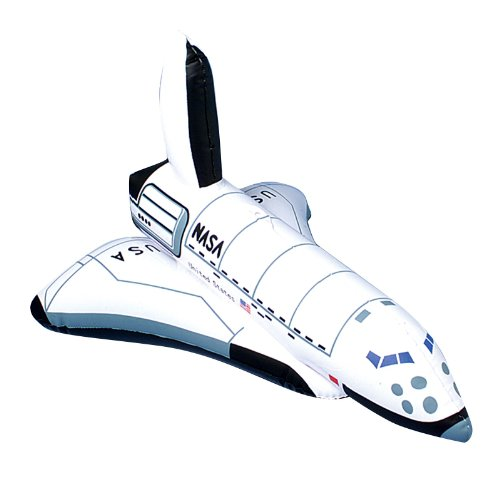 "US Toy One Inflatable Space Shuttle Ship Toy, 17"" - 1"