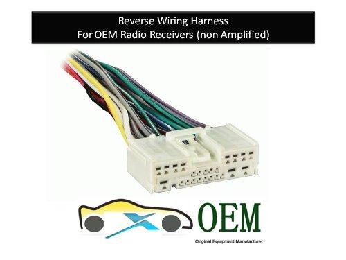 Mazda Protégé Radio Reverse Wiring Harness 2001 to 2012 OEM Radio (71-7903)