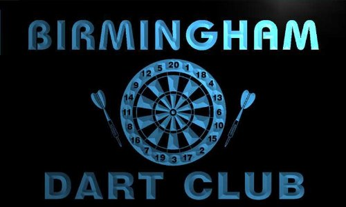Ts2147-B Birmingham Dart Club Bar Beer Pub Game Room Neon Light Sign
