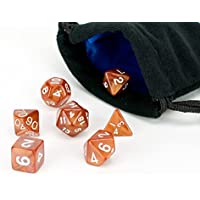Polyhedral Dice Set | 7 Piece Copper Color Solid (opaque) | PRISTINE Edition | FREE Carrying Bag | H