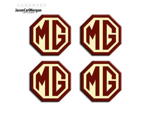 OEM MG ZR Noir Argent & Jante en alliage Bouchon Badges (OCT45mm)