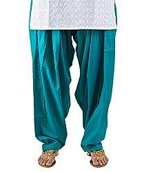 Neha Fashion Women's Regular Patiala Pant ( Turquoise )