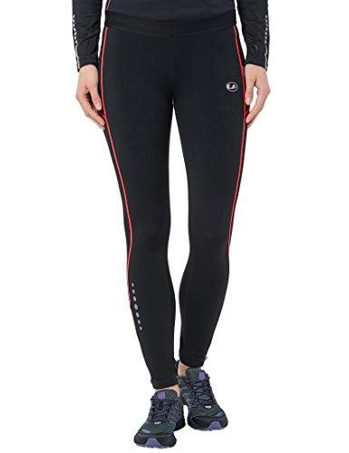 Ultrasport 380100000206 Pantaloni Jogging per Donna Imbottiti con Funzione Quick Dry Thermo-Dynamic, Nero, L