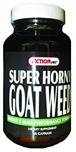 Super Horny Goat Weed By Action Labs - 60 Capsules, 4 Pack