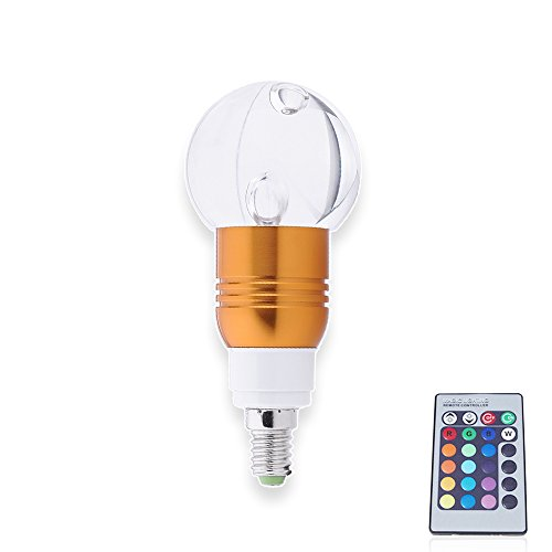 6X E14 3W Led Colorful Lights Change Color Crystal Lamp Remote Control Energy Saving Lamps