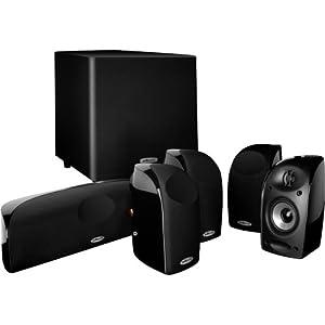 Polk Audio TL1600 Speaker System (Set of Six, Black)