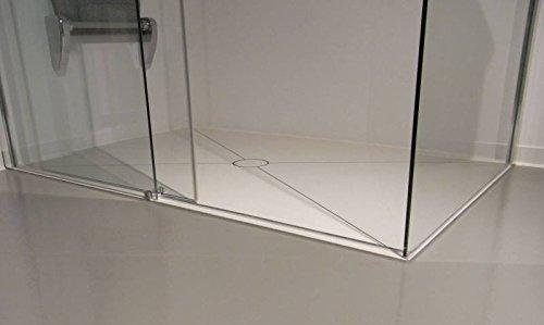 bodengleiche dusche bis 1 0 m mit kerlite einbaufertig belegt fast ohne fugen komplett. Black Bedroom Furniture Sets. Home Design Ideas