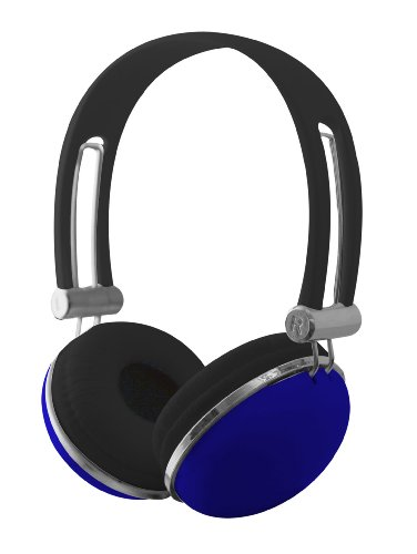Sentry Ho278 Retro High Performance Stereo Headphones, Blue