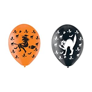 Amscan International 27.5cm Balloon Witches/ Cat ( Pack of 6) by Amscan International ltd
