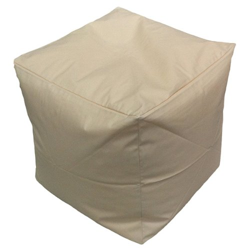 Linens Limited Faux Leather Bean Cube, Cream